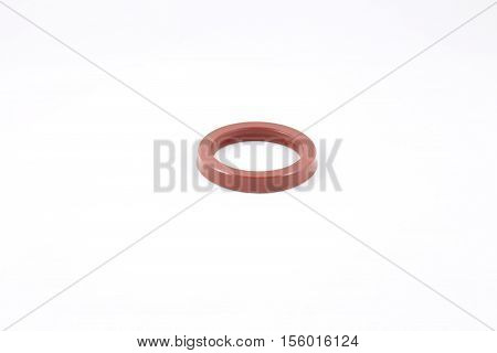 Hydraulic cylinder strengthened rod seal made from poliurethane