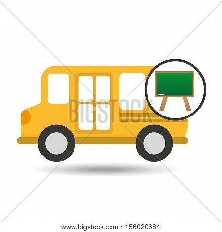 school bus icon blackboard graphic vector illustration eps 10