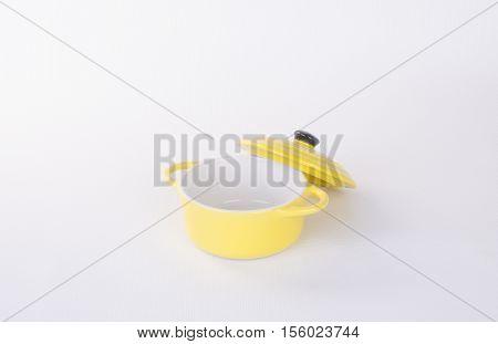 Pot Or Ceramic Food Pot On A Background.