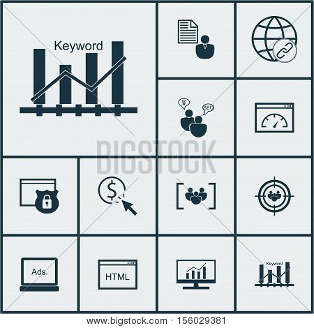Set Of Marketing Icons On Connectivity, Coding And Report Topics. Editable Vector Illustration. Incl