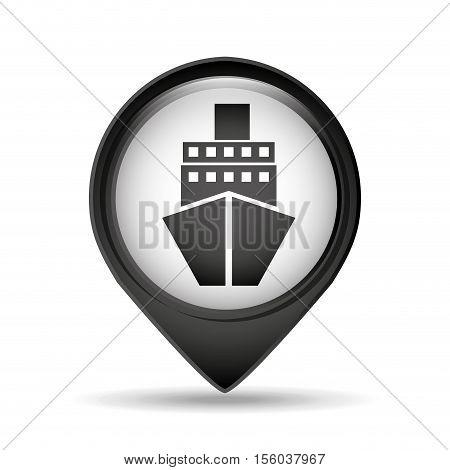 marine pin map sign design vector illustration eps 10