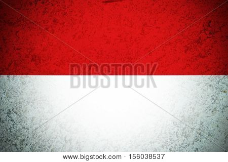 INDONESIA flag ,Original and simple Indonesia flag