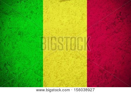 Mali flag ,original and simple Mali flag.Nation flag