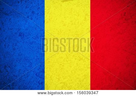 Romania flag ,Romania national flag illustration symbol.