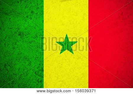 Senegal flag ,Senegal national flag illustration symbol.