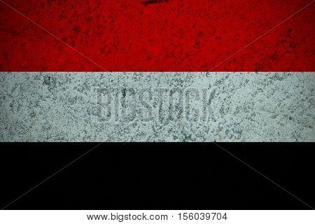 Yemen flag ,Yemen national flag illustration symbol.