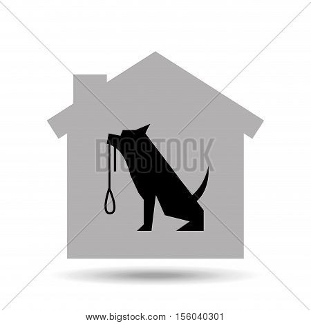 home pet dog leash icon vector illustration eps 10