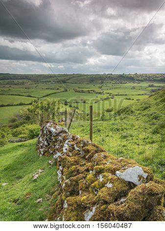 Drystone Wall near Chrome Hill, Peak District, Derbyshire, England