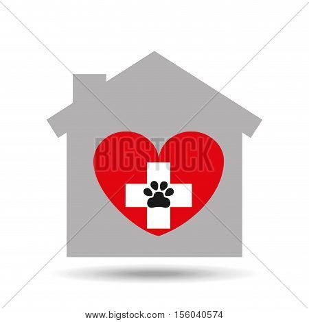 animal hospital care icon vector illustration eps 10