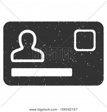 Banking Card rubber seal stamp watermark. Icon vector symbol with grunge design and corrosion texture. Scratched gray ink sticker on a white background.