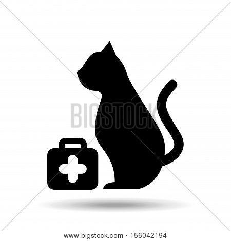 veterinary care pet symbol vector illustration eps 10