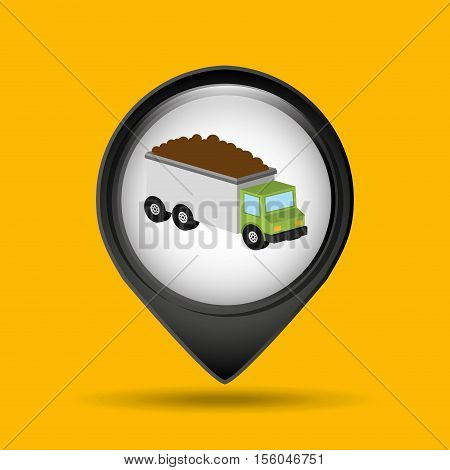 truck tipper transport icon graphic vector illustration eps 10