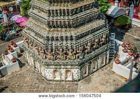 Detail Of Thai Temple In Bangkok