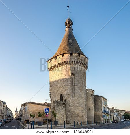 LIBOURNE,FRANCE - SEPTEMBER 1,2016 - Old Bastion from fortress of Libourne city. Libourne is a commune in the Gironde department in southwestern France.