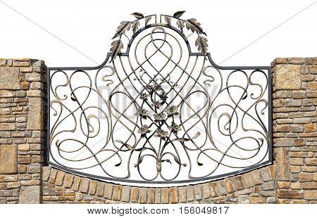 Iron fence isolation on a white background