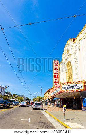 San Francisco Castro District Area Theater Shops V