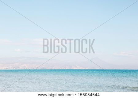 turquoise view of the ocean in alicante, spain