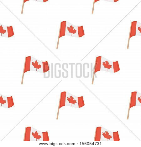 Canadian flag icon in cartoon style isolated on white background. Canadian Thanksgiving Day pattern symbol vector illustration.