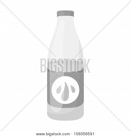 Lotion icon in monochrome style isolated on white background. Skin care symbol vector illustration.