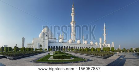Amazing Mosque. Sheikh Zayed Grand Mosque at sunset time (Abu-Dhabi UAE). Sheikh Zayed. Abu Dhabi