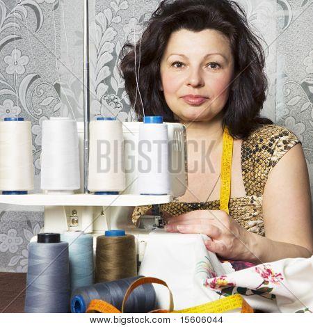Portrait of  professional woman tailor
