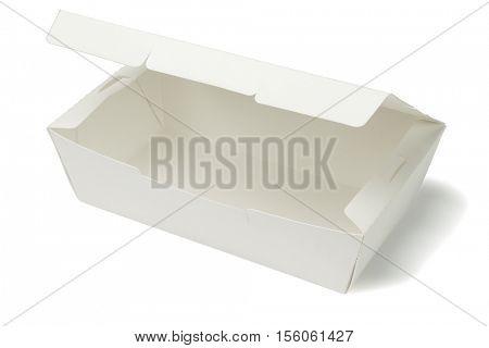 Empty Takeaway Box on White Background