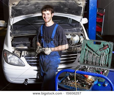auto mechanic at repair shop
