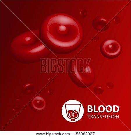 Vector illustration of human erythrocytes of blood