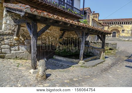 public washing of Santillana del Mar Cantabria Spain. One of the most beautiful villages