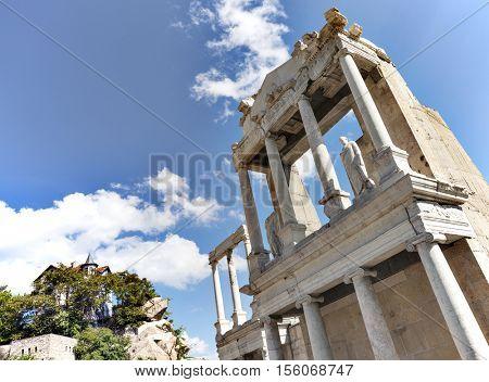 Roman amphitheatre old Plovdiv