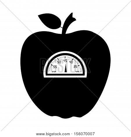 weight scale apple icon image vector illustration design