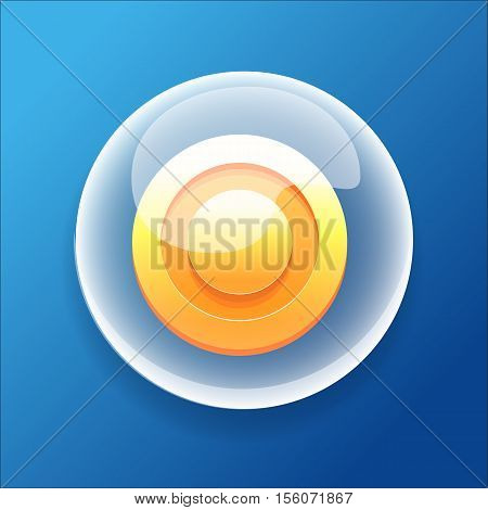 Vector Game Icon Bubble Gold Coin Money Bonus Circle