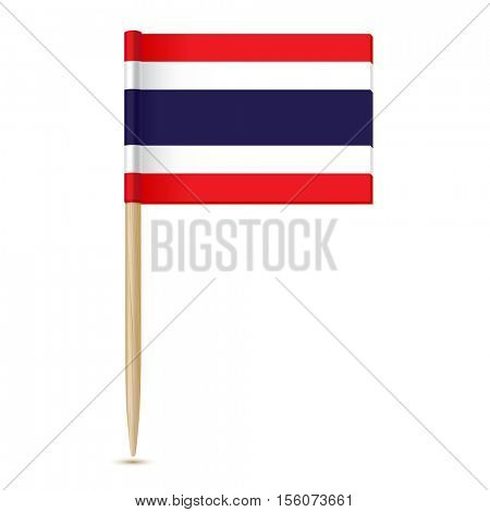 Flag of Thailand. Flag toothpick 10eps. Isolated on white background