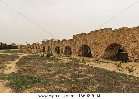 Aqueduct In Tunisia Near Carthage
