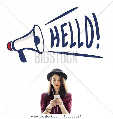 Hello Great Accost Greeting Salute Welcome Concept