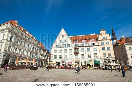 Town Hall Square In Tallinn, Bright Day