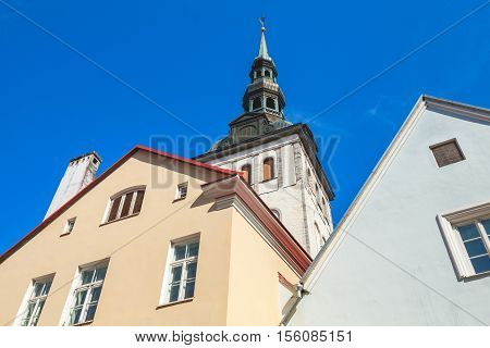 Old Town Of Tallinn, Estonia. Skyline