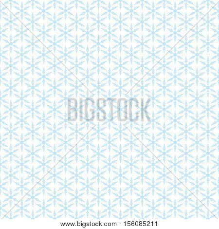 Snowflakes on white - Christmas seamless background. Vector.