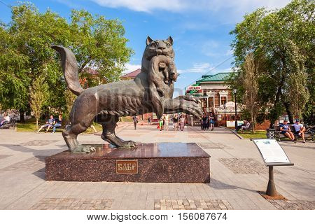 Babr Sculpture In Irkutsk