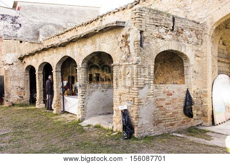 SETTIMO SAN PIETRO, ITALY - October 22, 2016: Festival of Malvasia - Sardinia - built inside a house campidanese