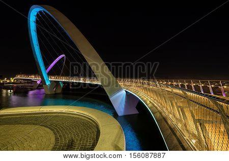 Elizabeth Quay footbridge on the Perth waterfront