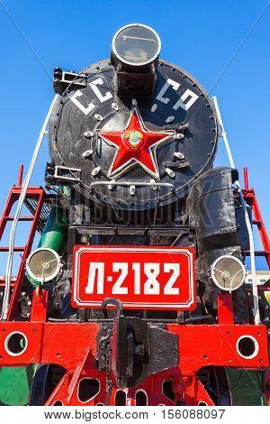 Steam Locomotive In Ulan-ude