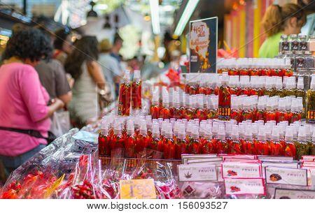 Boqueria Market - Barcelona  - Spain