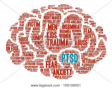 Ptsd Brain Word Cloud