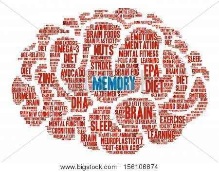 Memory Brain Word Cloud