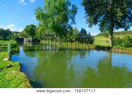 View Of The Burgundy Canal