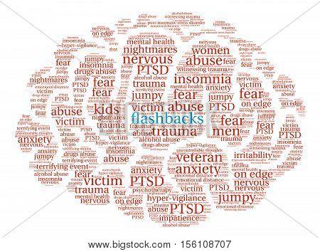 Flashbacks Brain Word Cloud