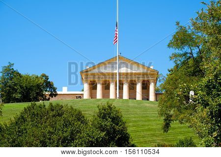 Arlington House at the Arlington National Cemetery, once the home of Confederate General Robert E. Lee