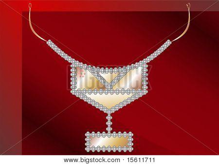 Necklaces Platinum ball.