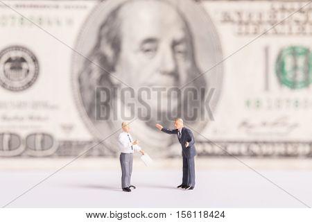 Business cinecpt: Businessman meeting talk a money.